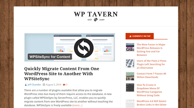 WPSiteSync by ServerPress featured in WPTavern